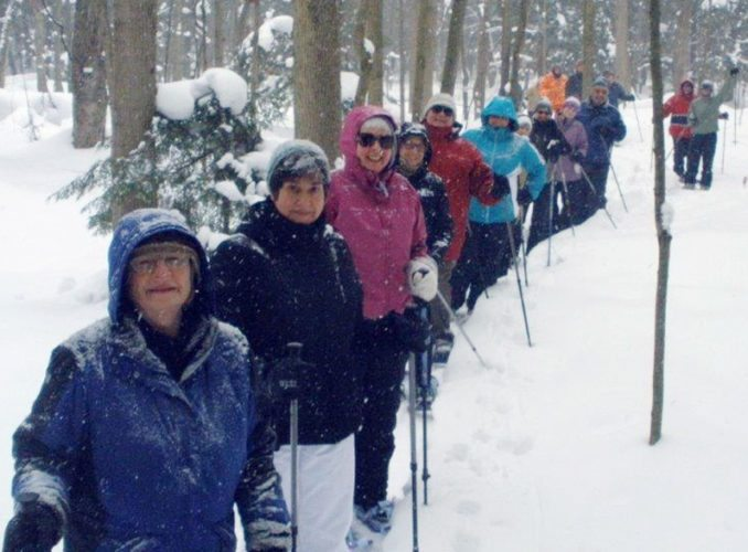 Submitted Photo Pictured are hikers at Dobbins Woods.