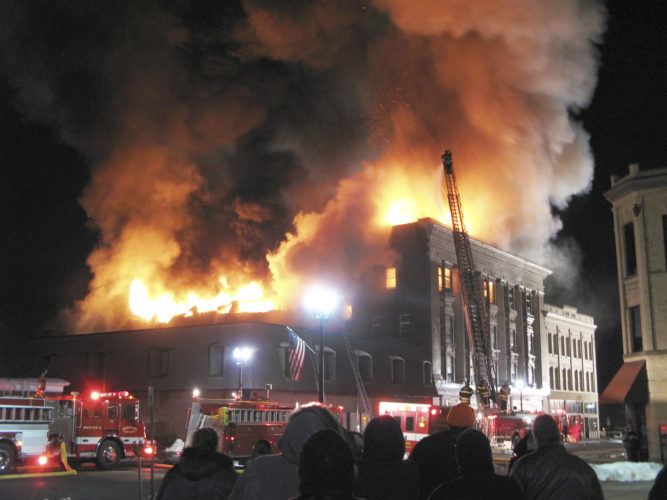 Dunkirk fire crews responded to the Masonic Temple building around 5 p.m. Feb. 24, 2010. Hours later, it was an inferno.