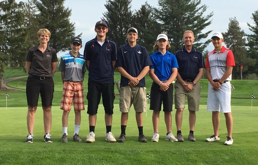 submitted photo this is the chautauqua lakewestfieldsherman golf team which won the ccaa team championship on wednesday from left to right are kathy