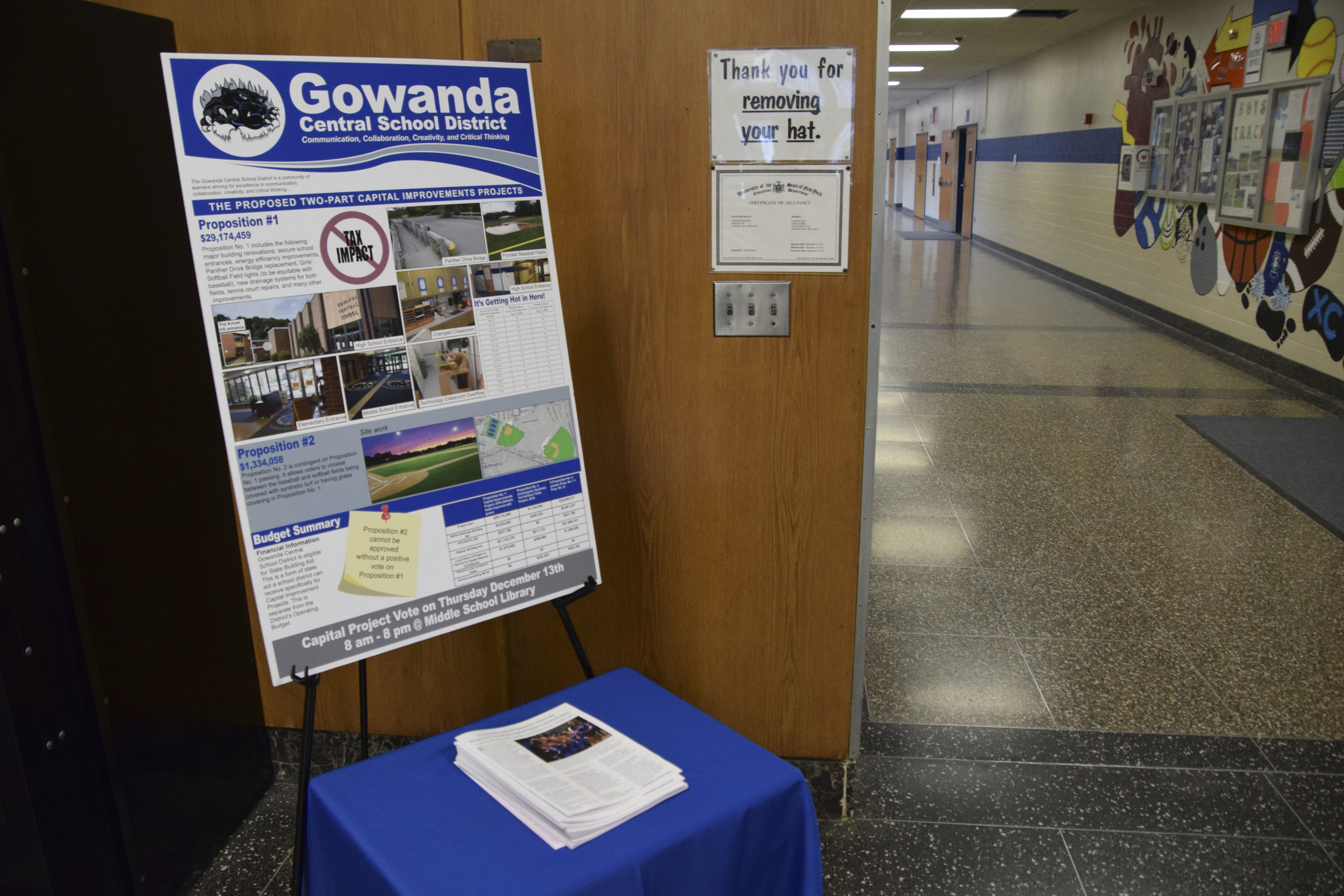 Gowanda School Residents Invited To Attend Public Hearing On Capital