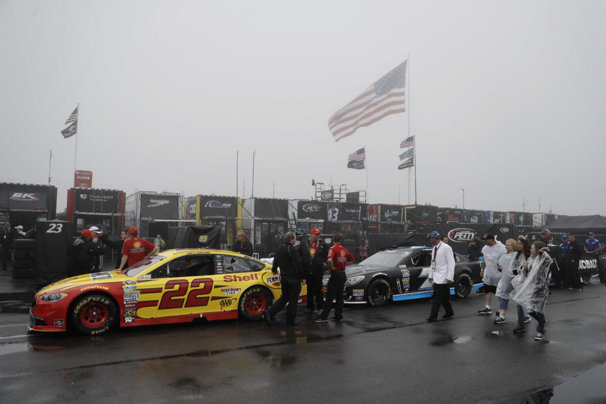 Rain postpones NASCAR Sprint Cup race at Pocono to Monday