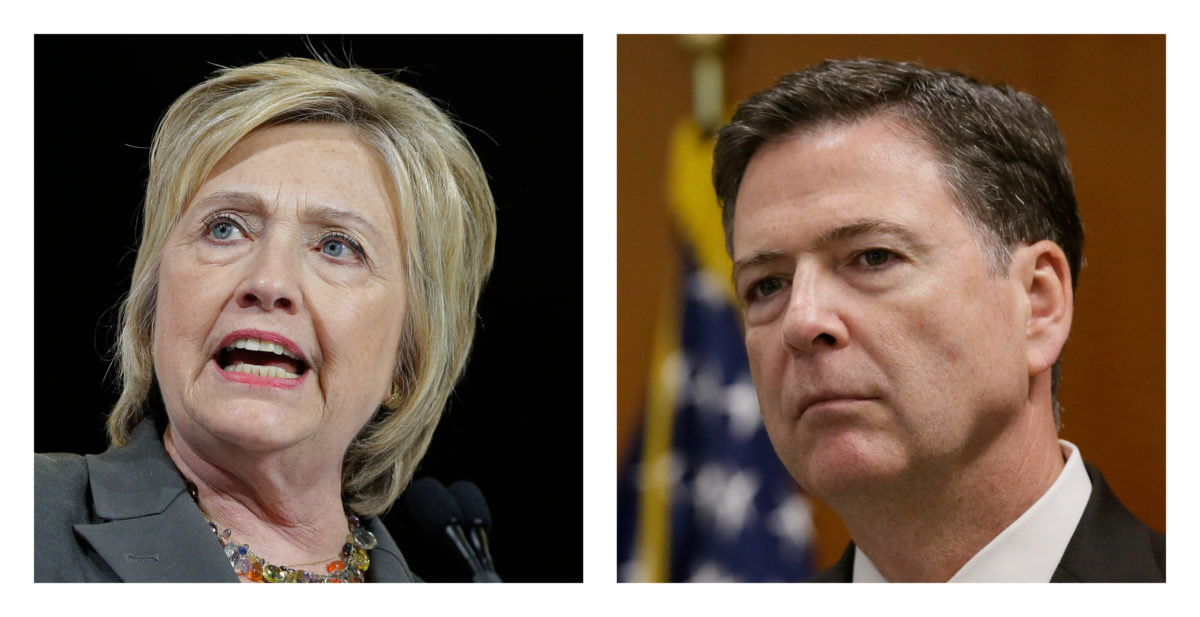 No charges recommended in Clinton email probe, FBI says