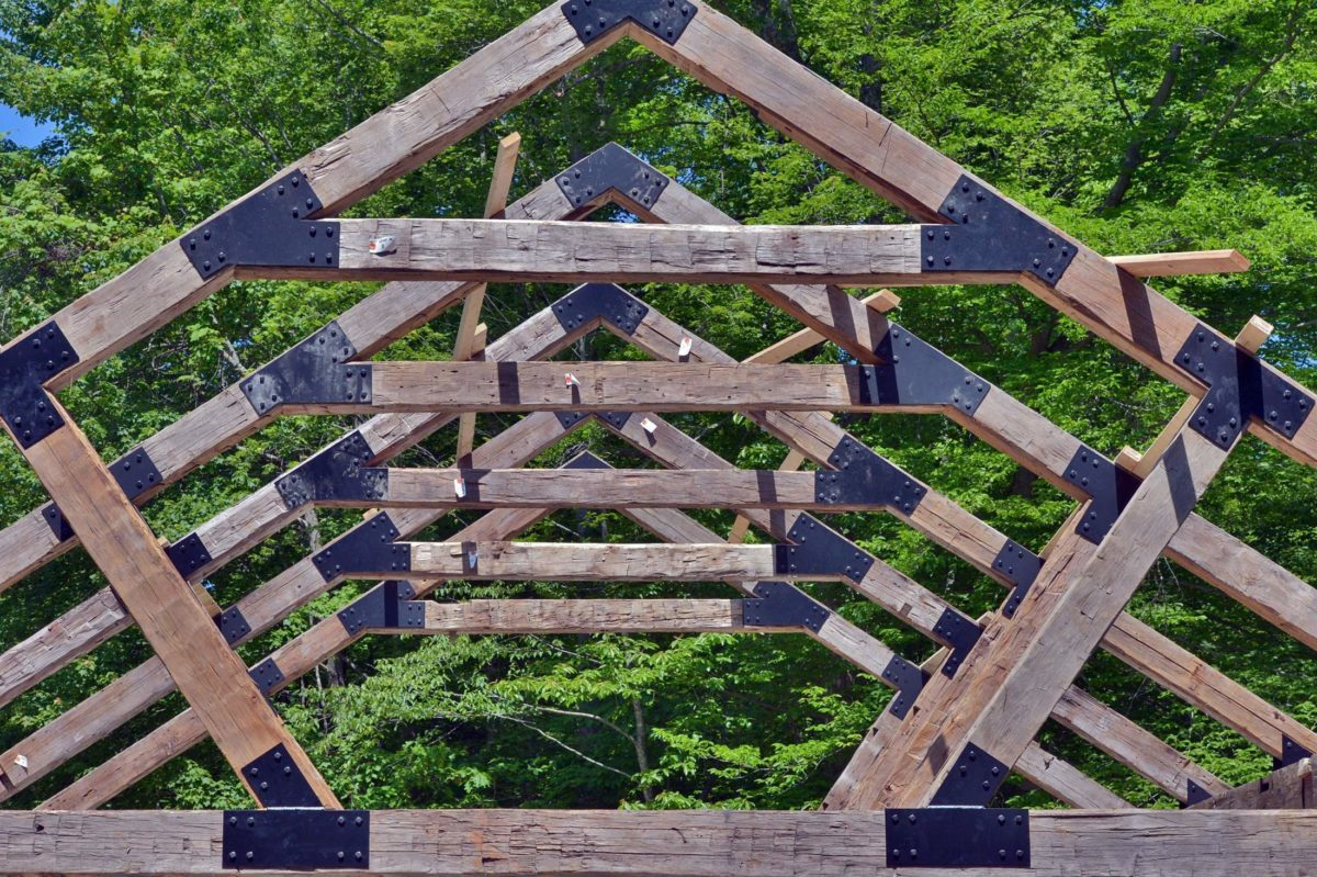 TV show re-purposes timber for New River Gorge pavilion