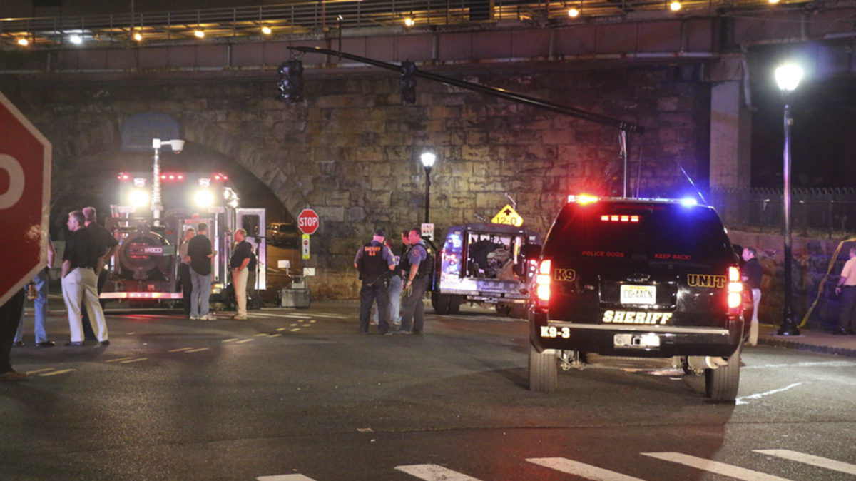 1 of 5 devices near train station explodes; no injuries