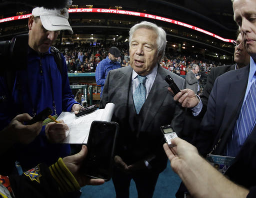 Patriots owner Kraft pulls some punches, throws others