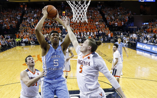 Guy, Perrantes help No. 23 Virginia beat No. 5 UNC 53-43