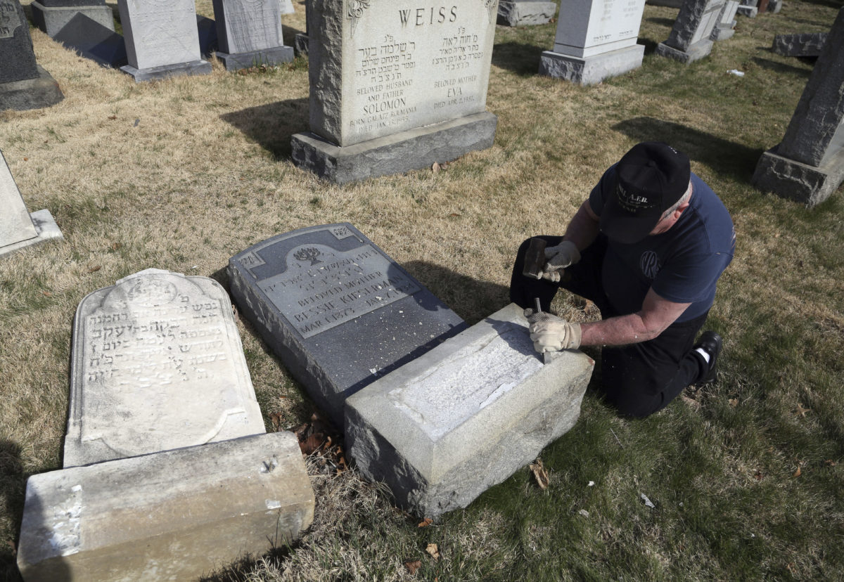 Outpouring of community help for vandalized Jewish cemetery