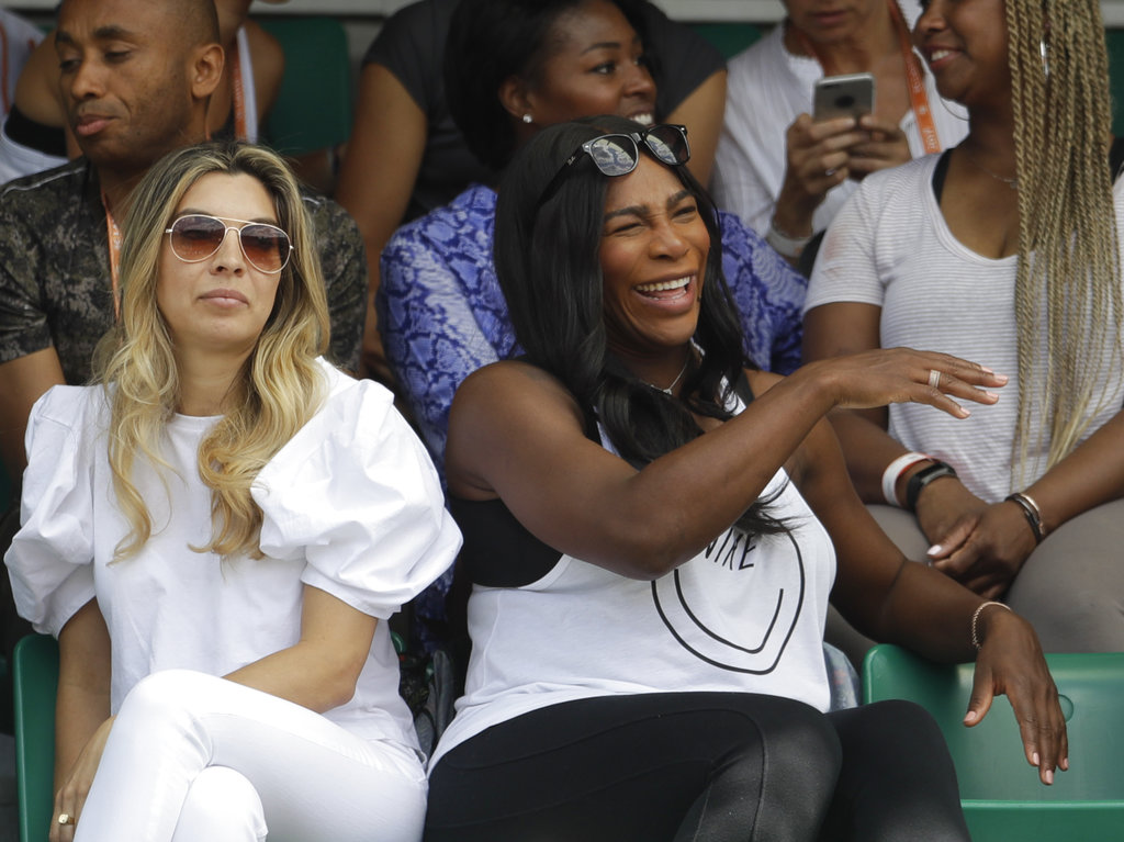 Serena's back at a Slam! OK, sort of; she watched Venus win