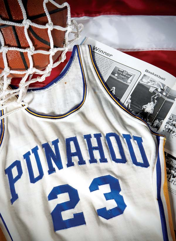 Bidders vie for Obama's Punahou basketball jersey