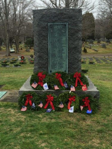 The annual Wreaths Across America ceremony will be held by the Civil Air Patrol's Jamestown Composite Squadron on Dec. 17 at noon at Lake View Cemetery. During the ceremony, evergreen wreaths will be laid on the graves located in Soldiers Circle in the cemetery, as well as on the graves of the Medal of Honor recipients which are located in a different area.  Submitted photo
