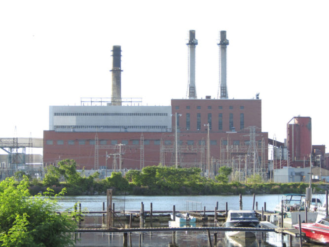 The NRG power plant in Dunkirk is pictured.