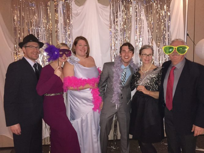 Pictured are Robert and Anna Wohlgemuth, Jennifer Stewart, Alek Michali, and Arlene and John Bonnett at a previous incarnation of the Rotary Club of Jamestown's Fire and Ice Ball. Submitted photo