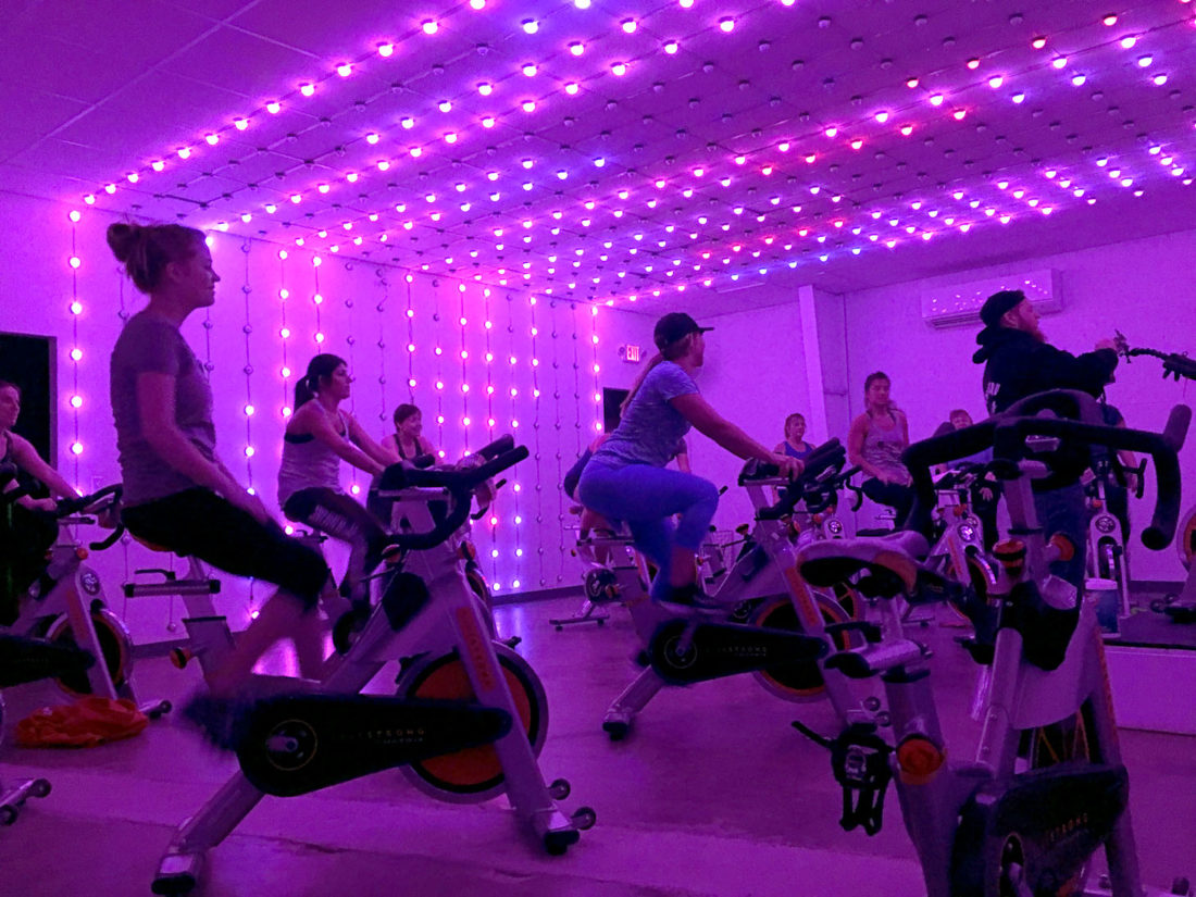 Urban Spin in Lakewood provides people of all abilities with a fun environment for a cardio workout. The indoor cycling facility is run by business partners Calin Preiss, Melanie Berg and Joe Walsh. They also run Forge Health and Performance in Lakewood.  Submitted photo  Urban Spin 3-