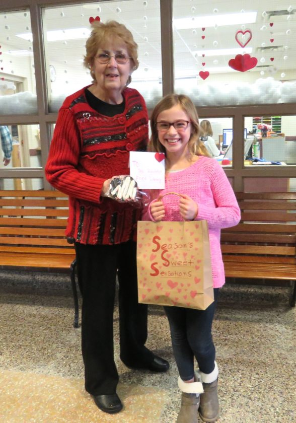 "Madelia Griffith, a 4th grader at Gail N. Chapman Elementary School in Randolph, has started her own business, ""Season's Sweet Sensations."" She takes orders and makes a different themed cookie each month, then she donates a portion of the proceeds to a local charity. P-J photo by Deb Everts"