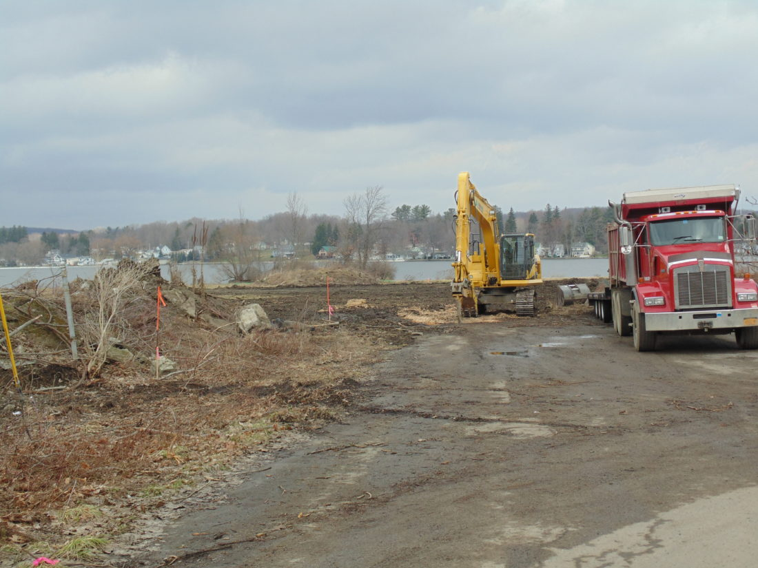 Work is underway at the site of the future Chautauqua Harbor Hotel in Celoron. Trees have been cleared from the site.  P-J photo by Jimmy McCarthy