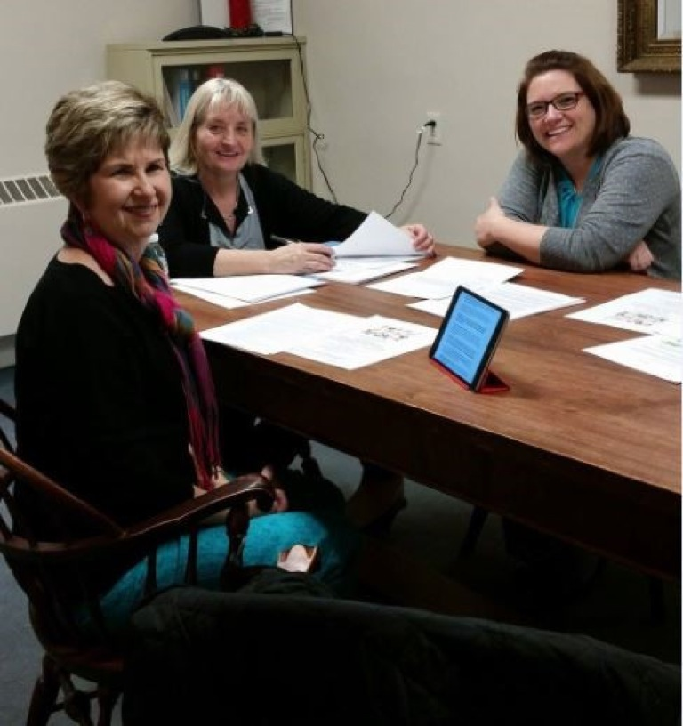Pictured, from left, are Sharon Hamilton, Wendy Wilcox and Amanda Gesing, judges for the 2017 Jamestown Interclub Council Woman of the Year award.