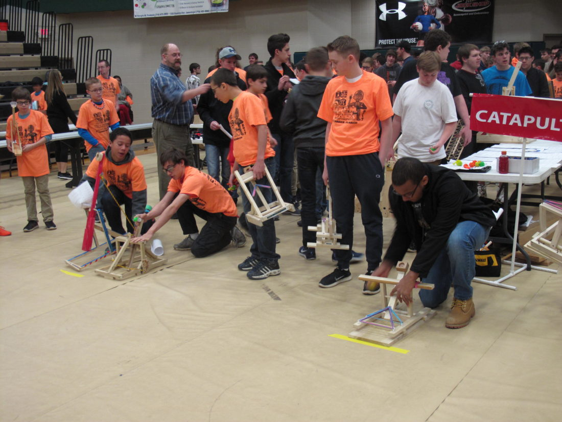 More than 900 middle and high school students attended STEM Wars 2017 at the JCC Physical Education Complex on Wednesday. STEM Wars is an educational and technology-based competition for students that focuses on science, technology, engineering and mathematics. P-J photo by A.J. Rao