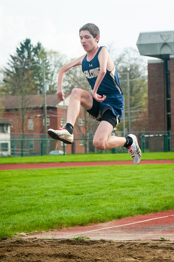 Falconer-Cassadaga Valley's Rayven Sample competes in the triple jump Thursday  afternoon. P-J photo by Valory S. Isaacson