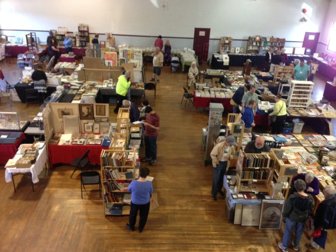 Shoppers are pictured at a previous Vintage Book and Paper Show and Sale hosted by the Chautauqua County Historical Society.