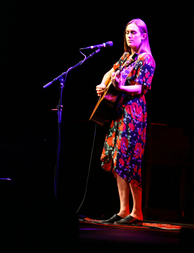 Lilly Winwood took the stage April 29 at Seneca Allegany Casino prior to her father. Like Steve Winwood, Lilly has proven musical talent. P-J photo by Chris Chapman