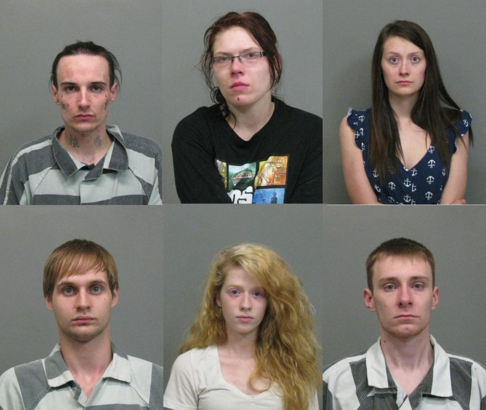 Picture, clockwise, from tip right are James Hurley, Joy Sprague, Mikayla Miller, Nicholas Shambo, Amber Roush, and Adam Max.