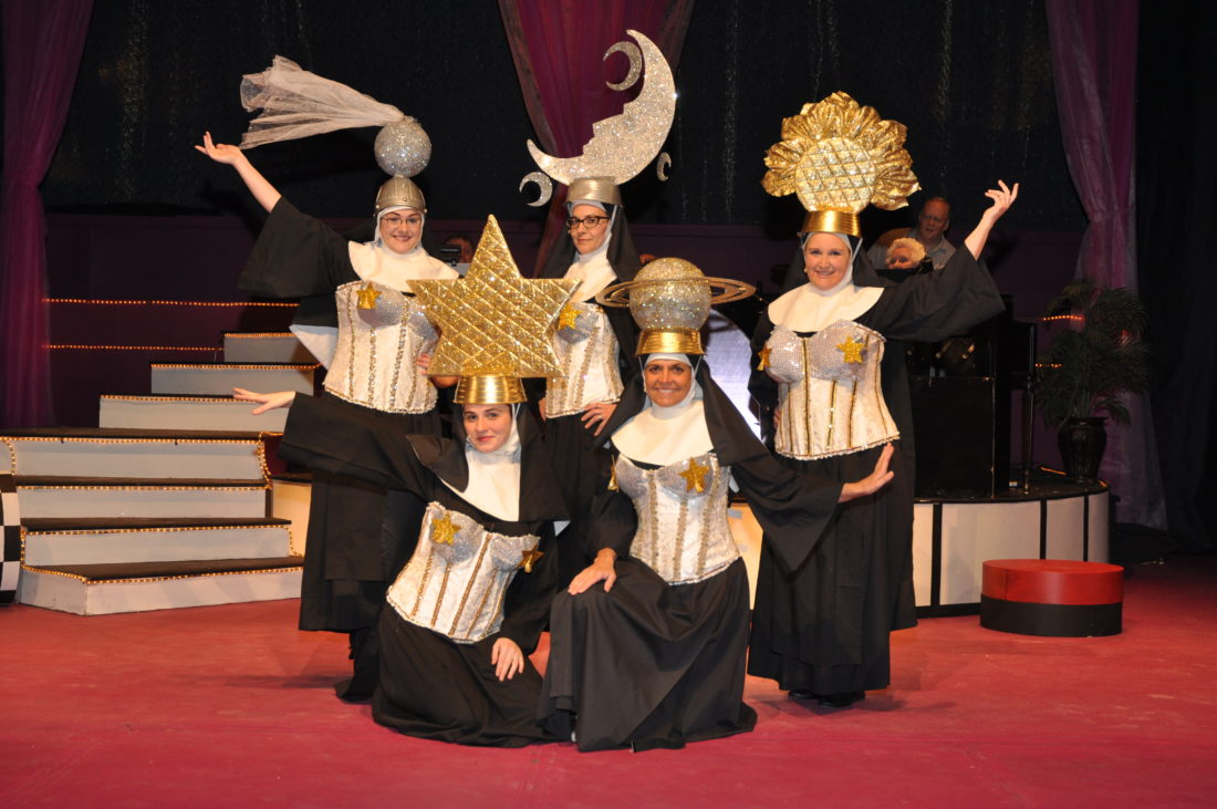 """The Lucille Ball Little Theatre will conclude its production of """"Nunsensations!: The Nunsense Vegas Revue"""" this weekend. Production times are Friday and Saturday at 7:30 p.m., and Sunday at 2 p.m. Submitted photo by Holly Weston"""