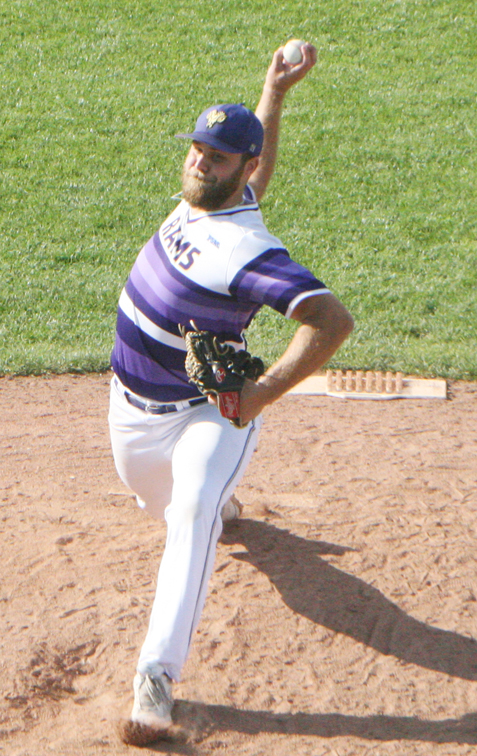 West Chester closer Josh McLain delivers to the plate during the ninth inning. P-J photos by Scott Kindberg