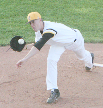 Millersville's Cordell Shannon delivers to the plate. P-J photo by Cody Crandall