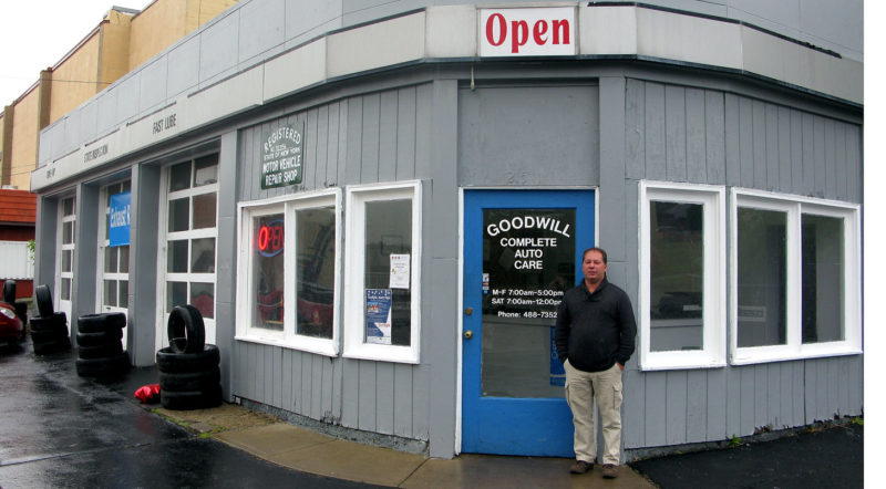 Dennis Goodwill, owner of Goodwill Complete Auto Care, in front of his new business at 215 E. Third St. in Jamestown, which was formerly known as Ray Nelson Services. P-J photo by Gavin Paterniti