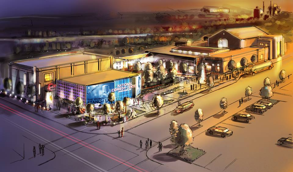 A conceptual drawing of the National Comedy Center. National Comedy Center officials have finishing the capital financing for the $25 million project. Submitted photo