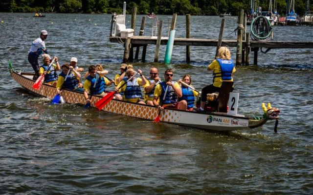 A dragon boat team is pictured during the 2016 Chautauqua Lake Dragon Boat race. Entries for the 2017 race are being accepted now.
