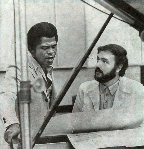 Frank Vincent is pictured rehearsing with James Brown at King Records in 1968. This photo was originally published in CiN Weekly in 2008. Submitted photo
