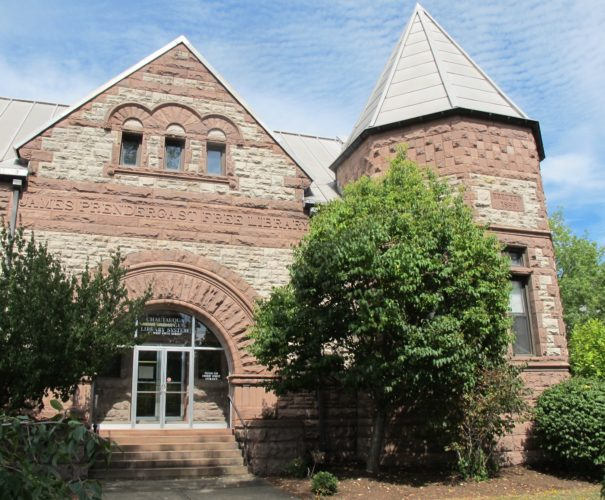 The James Prendergast Library, located at 509 Cherry St., is the largest member library in the Chautauqua-Cattaraugus Library System. The James Prendergast Library Board of Trustees approved the co-central library plan last November. The plan is used to supplement member library reference and nonfiction collections, support system-wide databases and provide reference services and training to member libraries. P-J photo by Dennis Phillips