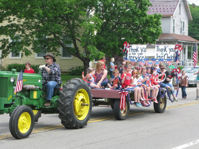 The town of Gerry held its annual Memorial Day observance Sunday, with a parade along Route 60 and a memorial service at Gerry Village Cemetery. P-J photos by Gavin Paterniti
