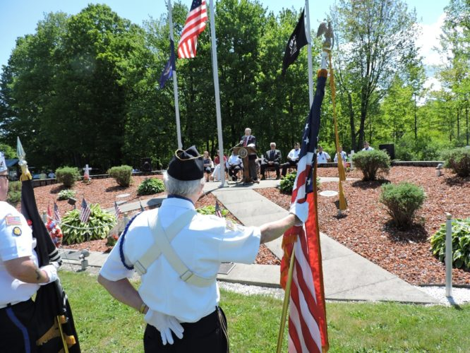 Dr. Jim Holton was the guest speaker at the Cassadaga Memorial Day Ceremony at the Cassadaga Ceremony, speaking about the past, present and future of the patriotism of Cassadaga.