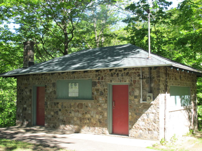 City officials have replaced the roof to the kitchen at Allen Park, pictured here. The city will also work to refurbish the stone bridges in the park this summer. P-J photos by Dennis Phillips