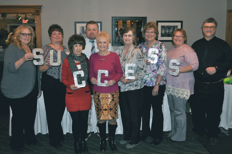 Lutheran's employees with 20 or more years of service to the organization, from left, Jody Henry; Liz Lobb; Carol Proestler; Paul Siragusa; Janet Basile; Louise Russo; Karen Marg; Christine Anderson; and Paul Hlosta. Submitted Photo