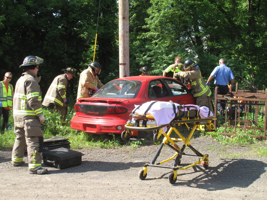 A joint training exercise was held Monday at the Raymond C. Taylor Training Center in Jamestown.
