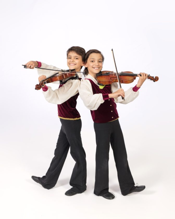 CRYB dancers Aaron and Boaz Mecham, pictured, will perform a violin duet at CRYB's Spring Gala Saturday.