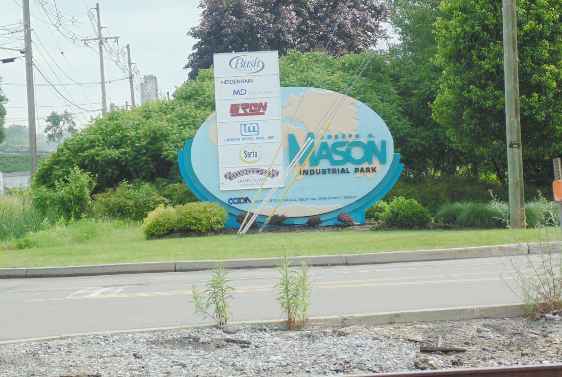 The Joseph M. Mason Industrial Park, located on Mason Drive in the town of Ellicott, is home to Bush Industries, MD Electronics, Larson Metal, Serta and Overhead Door of Jamestown.