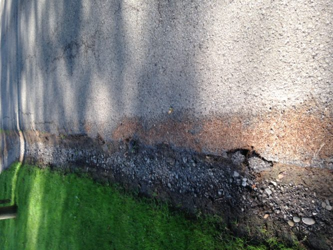 Pictured is an example of the erosion and sediment build-up caused by a lack of drainage along Gifford Avenue in Celoron. Submitted photo