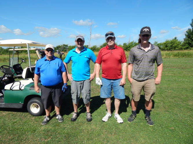 Pictured are winners of the 2016 Colin Speta Golf Tournament with a score of 61: Chris Waddington, Justin Kinney, Rick Luce, John Gurzynski Jr.