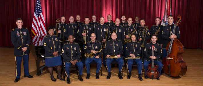 The official traveling band of the United States Army, the Jazz Ambassadors, will perform at 2:30 p.m. today.
