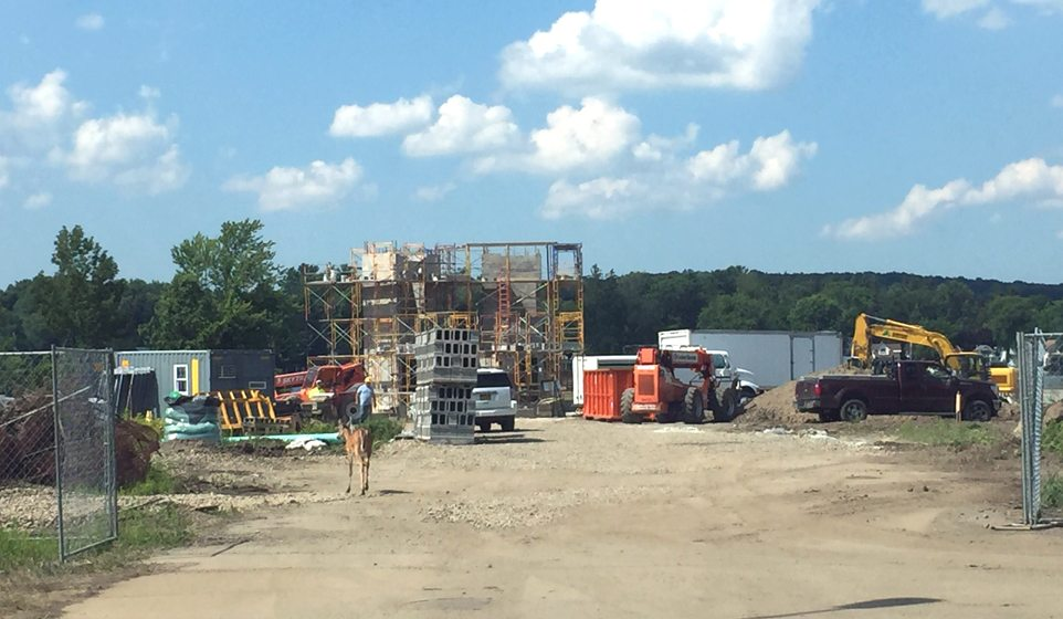 Construction of the Chautauqua Harbor Hotel is underway along the Chautauqua Lake shores in Celoron. The $30.8 million project is expected to be finished and ready for guests between the spring and summer of 2018.  P-J photo by Jimmy McCarthy