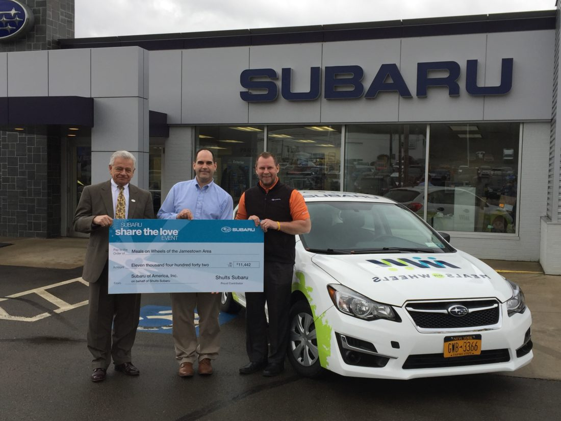 Meals On Wheels Of Jamestown Receives Over 14 000 From Subaru Event