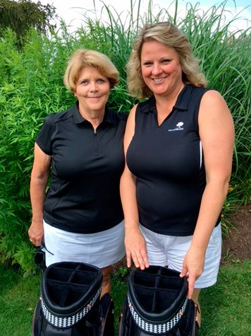 Member Sheryl Johnson, left, and guest Dawn Lai won the Moon Brook Country Club Ladies Member-Guest Tournament on Tuesday with a 59. Submitted photo