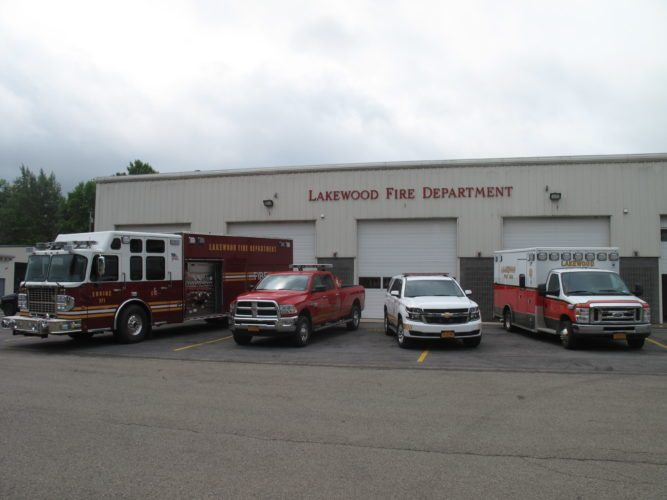 The Lakewood Fire Department is now equipped with a new fleet of vehicles, including a pumping engine, an ambulance, a command vehicle, a pickup truck and a boat. P-J photo by A.J. Rao