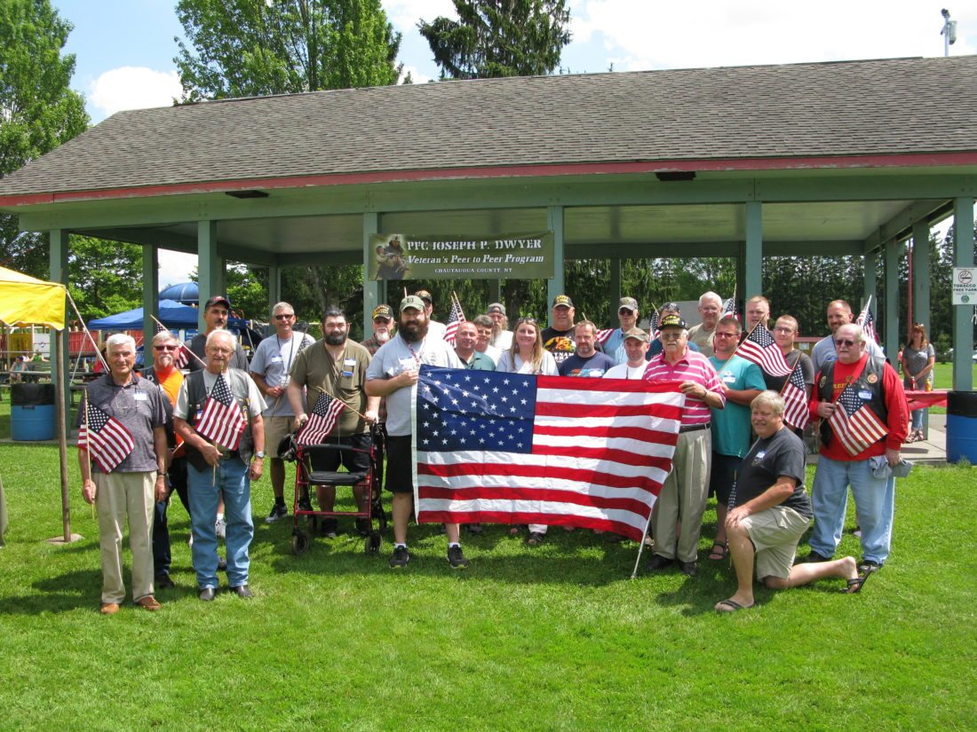 The Dwyer Peer-to-Peer Program of Chautauqua County hosted a kick-off picnic for local veterans and their families at Bergman Park in Jamestown on Sunday. P-J photos by Gavin Paterniti