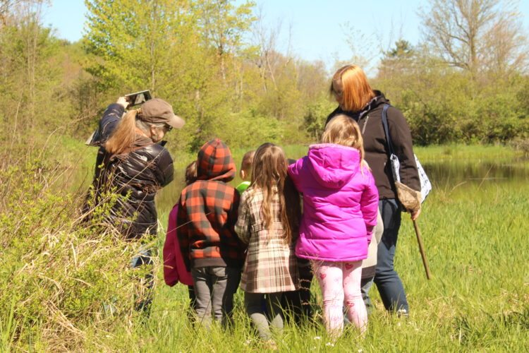 Audubon Naturalists see over 2,000 students at the Nature Center in the spring, sharing local nature with them and giving the experiences they might not get otherwise.