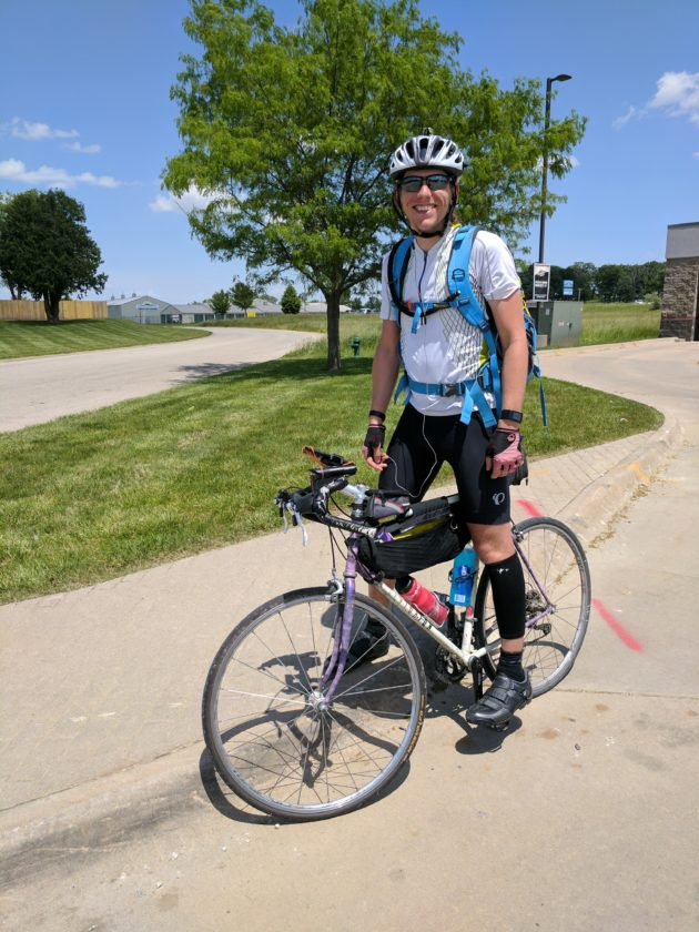 Joseph Lynch, a former Kennedy resident, is biking from his new home in Iowa to his hometown in a five-day timeframe. Lynch's ride will benefit the Doug Flutie Jr. Foundation for Autism.  Submitted photo